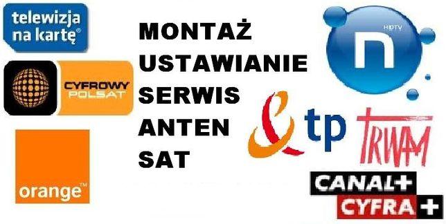 SERWIS 24H MONTAŻ USTAWIANIE anten satelitarnych i DVB-t, ustawianie