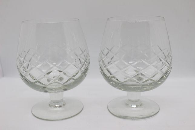 2 Copos Ballon Meio Cristal Lapidado Vintage Brandy Cognac