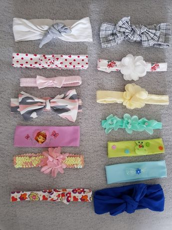 Zestaw opasek niemowlęcych opaski dla dziewczynki