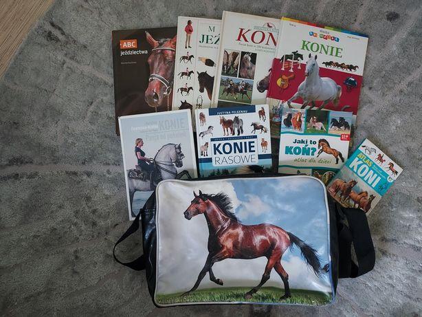 Sprzedam książki  o koniach+torba