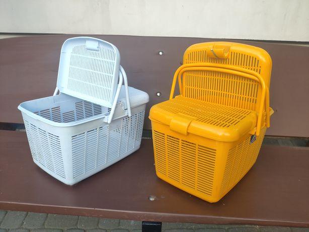 Koszyk piknikowy plastikowy żółty