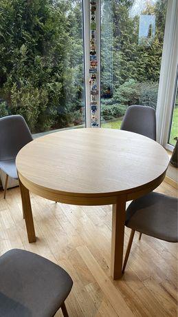 Stół okrągły z Ikea Bjursta