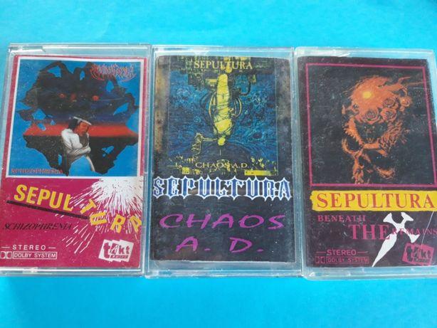 SEPULTURA - kasety magnetofonowe - wydania nieoficjalne