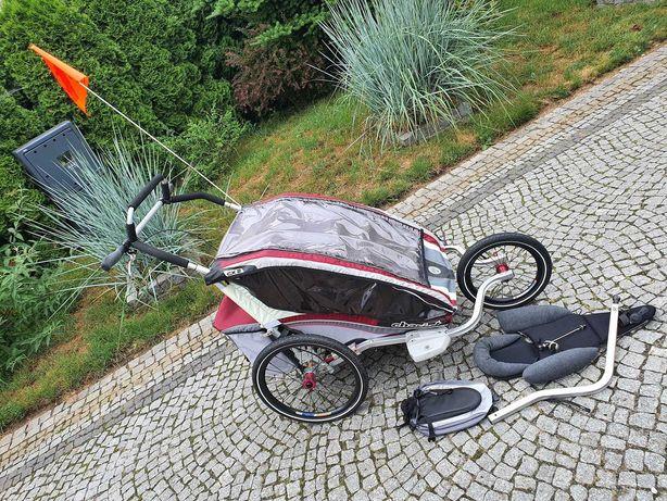 Chariot CX2 Wózek rowerowy dziecięcy + jogging set + dodatki /stan bdb