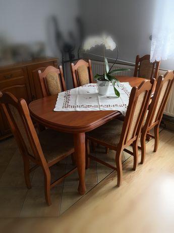 Stół z krzesłami rozkładany
