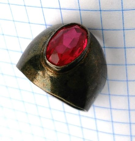 Кольцо серебро Звезда 875 пробы