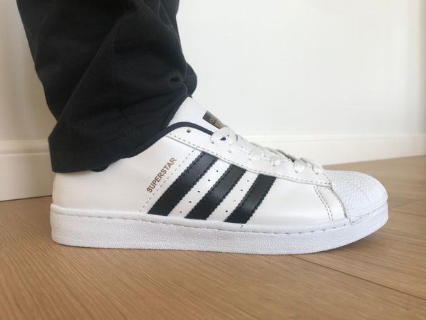 Adidas Superstar. Rozmiar 42. Białe - Czarne paski. Bardzo modne!