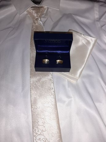 Koszula męska ślubna + dodatki