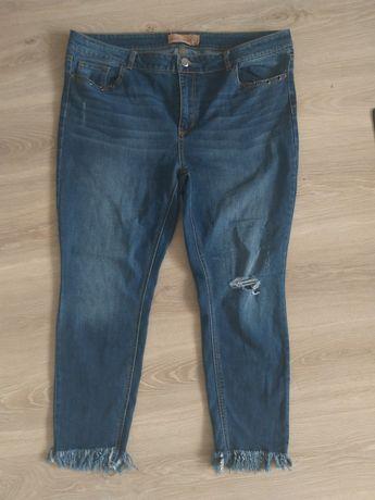 Spodnie jeansy 46 wysoki stan