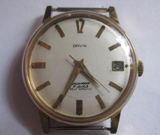 Zegarek Orvin automat lata 70 sr 34 mm