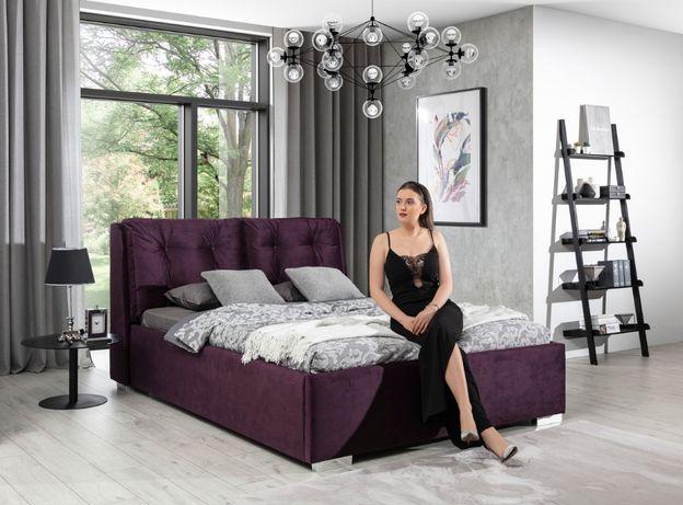 Łóżko tapicerowane ANDRZEJ 160x200 z pojemnikiem na pościel/NOWE