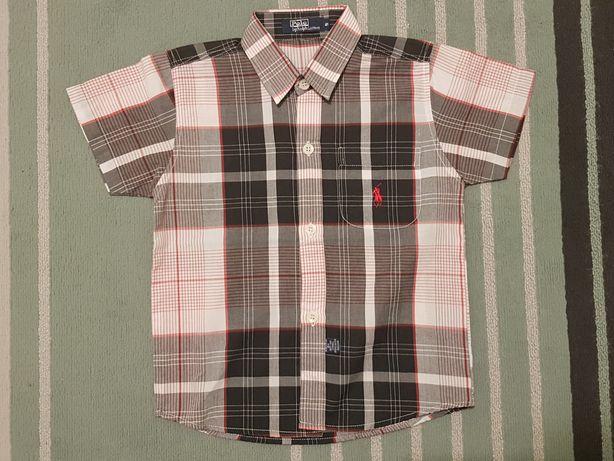 Koszula chłopięca krótki rękaw 110cm Ralph Lauren