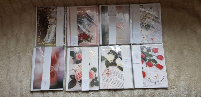 Kartki ślubne różne wzory