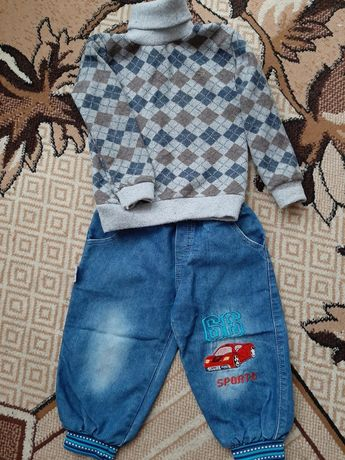 Продам джинси і кофту для хлопчика