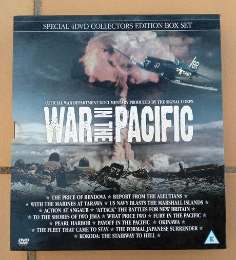 """Álbum com 4 DVDs de guerra """"War On The Pacífic"""""""