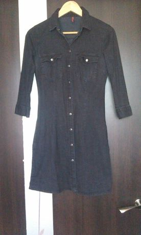 продам черное джинсовое платье