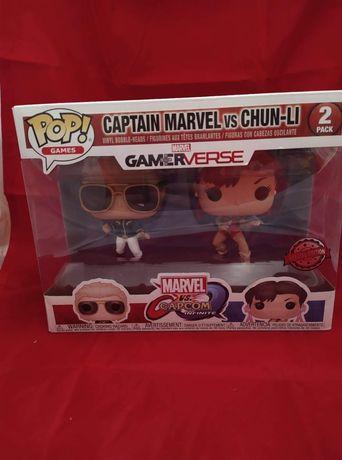 Funko POP 2-pack EXCLUSIVE Captain Marvel Chun-Li
