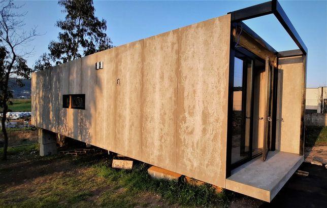 Container House/Casa Contentor Móvel T1 Nova-36m2 Acab. Qualidade Sup.