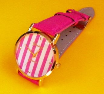 Zegarek Damski wskazówkowy na rękę różowy pasek