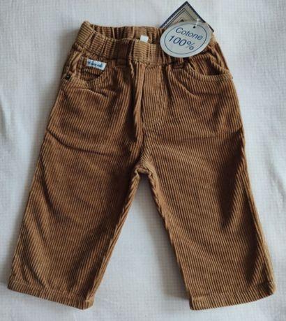 штаны на 9 мес мальчик Coccoli Италия коричневые, черные