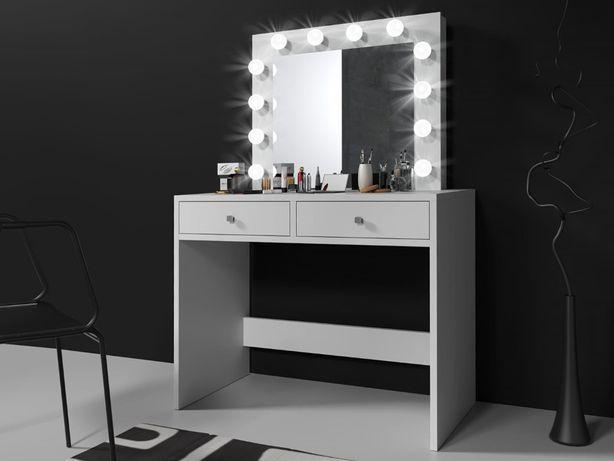 Cudna Toaletka z lustrem z LED - MONTE 12 LED! Kolory! Dowóz Gratis!