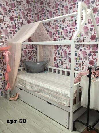 Кровать домик массив ольхи сосны.Будиночок ліжко дитяче.Дом.арт 10