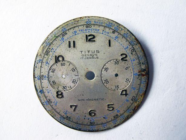 Titus Geneve Chronograph tarcza zegarka.