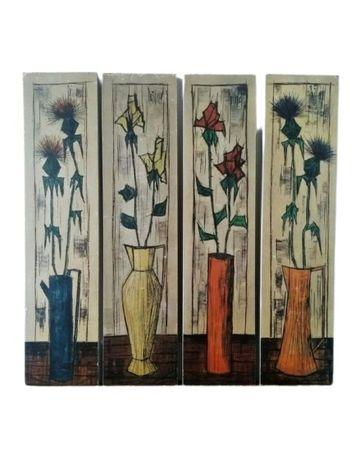 """Litografia, """"Kwiatowy panel"""",Paillava"""