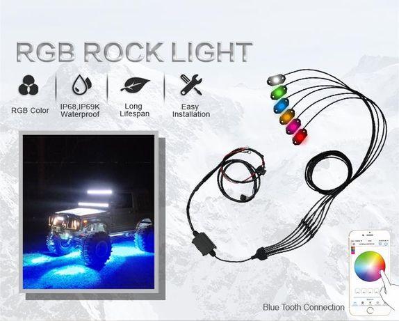 Aurora Rock Light RGB-D8 - точечные светодиодные огни -подсветка днища