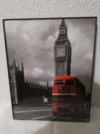 Quadro Novo Imagem Londres: Big Ben, Abadia de Westminster e Routemast