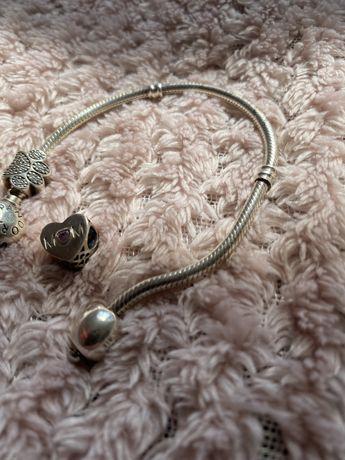Pandora charms Mom Mama srebro różowa cyrkonia