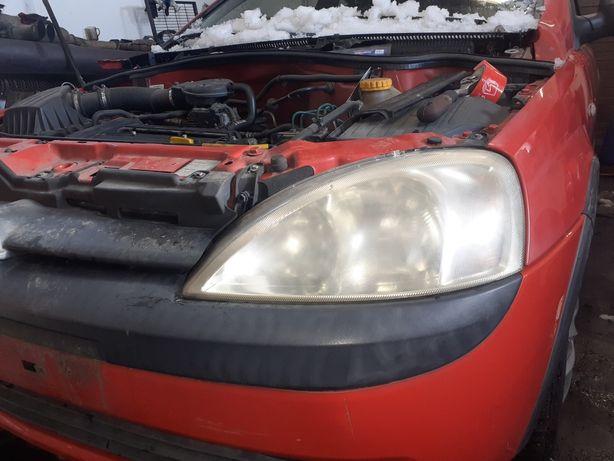Opel corsa c combo lampa lewy przód do polerki