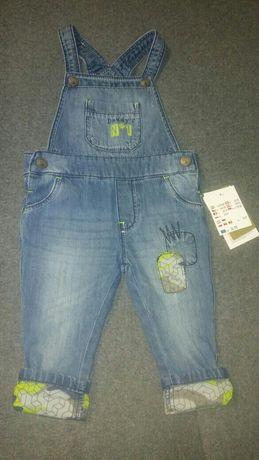 NOWE spodnie jeansowe ogrodniczki