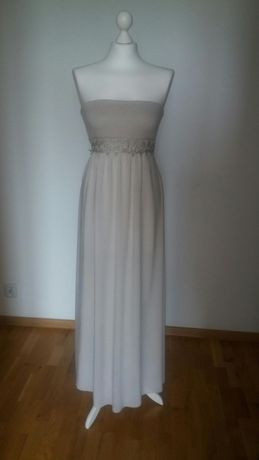 Włoska sukienka letnia długa M