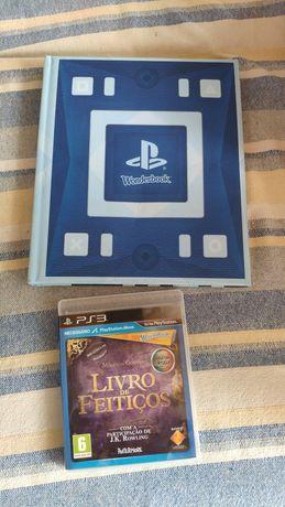 Jogo PS3 wonderbook, o livro de feitiços