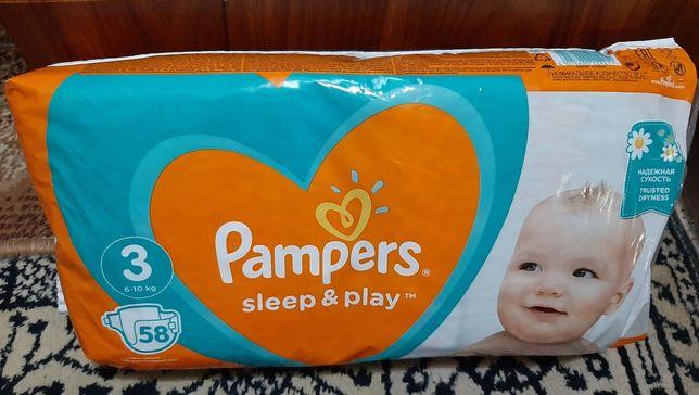 Памперсы Pampers sleep & play 3