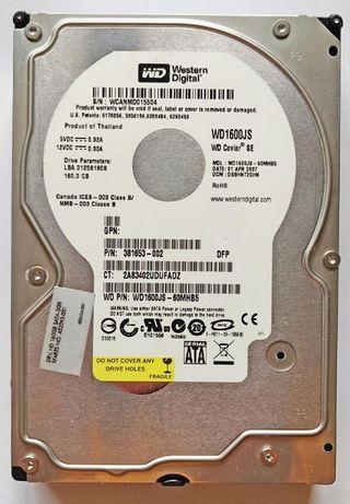 Жесткий диск WD 1600JS SATA 160 ГБ бесплатная доставка