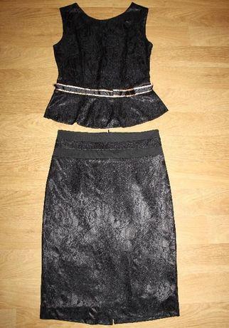 Komplet- spodnica i bluzka roz 38