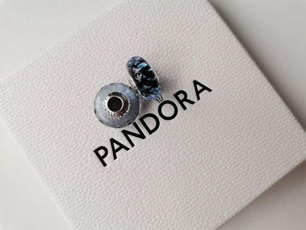 Pandora charms granatowe fale murano