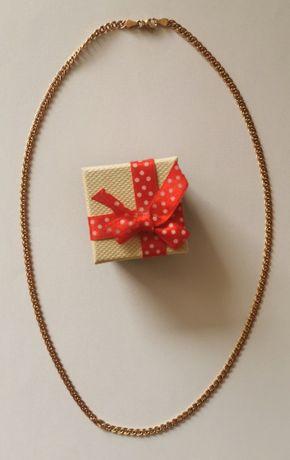 złoty łańcuszek próba złota 585 waga 5,33 g długość 53,5 cm