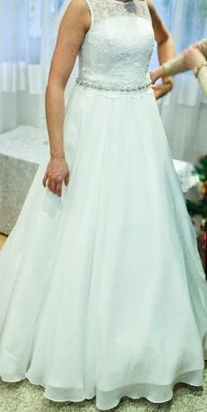 Suknia ślubna rozmiar S z kołem - TANIO !