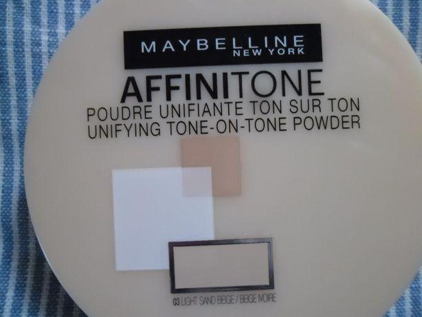 NOWY! MAYBELLINE Affinitone Puder 03 Light Sand Beige prasowany
