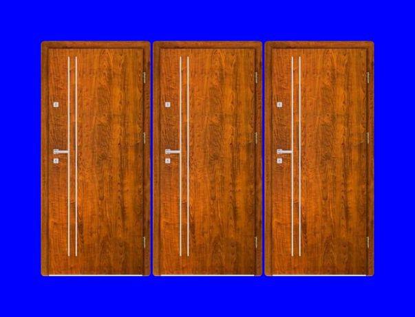 WEWNĄTRZKLATKOWE drzwi zewnętrzne-wejściowe blokowe z montażem!TANIO!