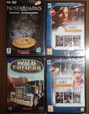 retro gry przygodowec PC 4 sztuk, Nostradamus, TopWare, CI games,