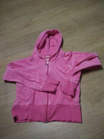 Różowa bluza z kryształkami dla dziewczynki
