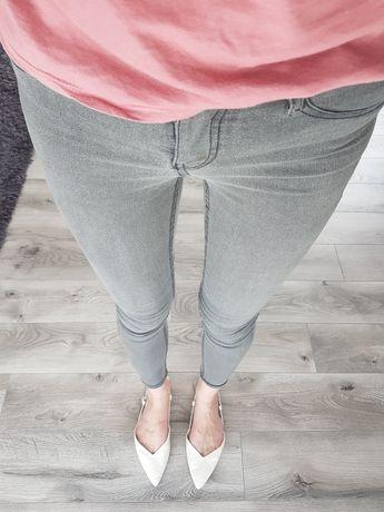 Spodnie rurki sinsay szare popielaty skinny 32