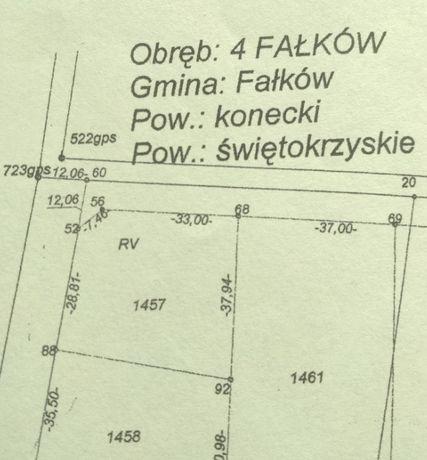 Działka budowlana Fałków