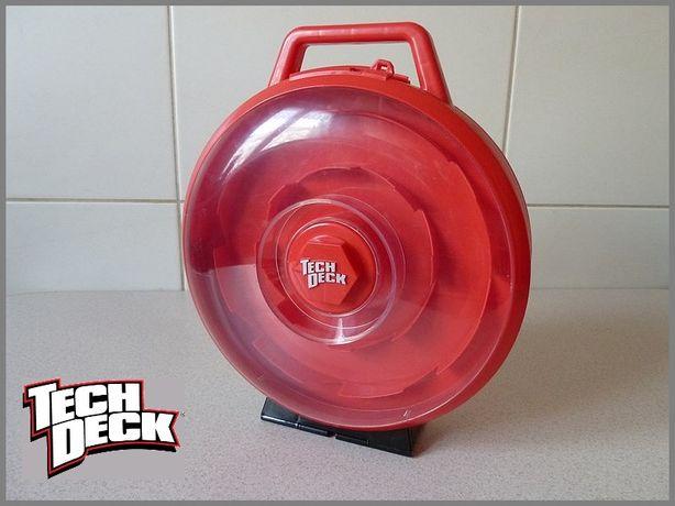 TECH DECK Mini deskorolki - Walizka okrągła, dwustronna, RED. Nowa.