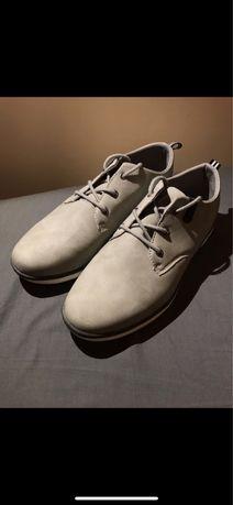 Skórzane szare buty sneakersy roz 40