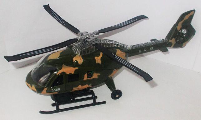 Helikopter wojskowy moro dźwięki światła strzelanie napęd